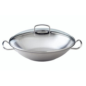"Fissler Edelstahl-Wok mit Glasdeckel ""original-profi collection"", Ø 35 cm"