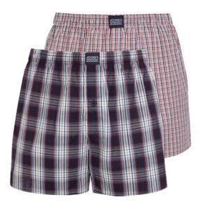"""Jockey Schlaf-Shorts """"USA Originals"""", 2er-Pack, elastischer Bund, Karo-Design, blau/rot, XL"""