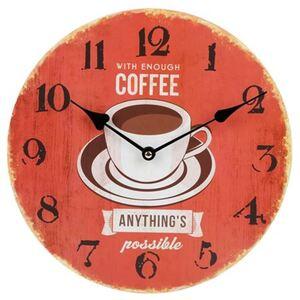 Holz-Wanduhr Coffee 29cm