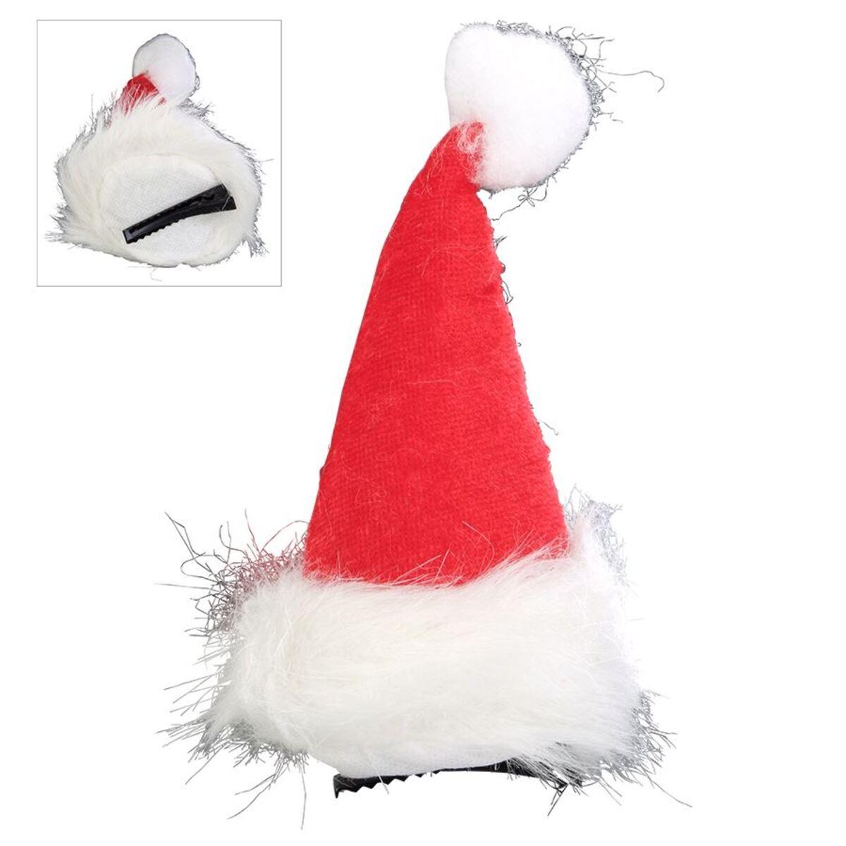 Bild 1 von Mini-Weihnachtsmütze mit Haarspange