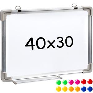 Magnettafel inkl. 12 farbigen Magneten 40 x 30 x 2 cm