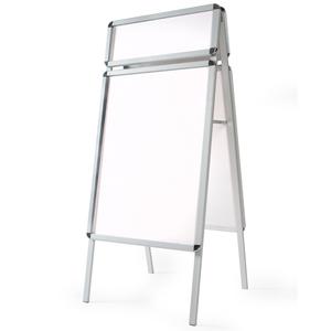 A1 Kundenstopper Aluminium, doppelseitig mit Topschild und 2...