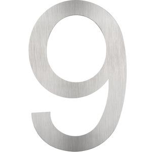 Hausnummer Edelstahl 9