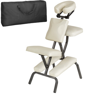 Massagestuhl aus Kunstleder beige