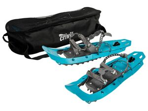 CRIVIT® Schneeschuhe, mit hochklappbarer Steighilfe, Front-Eiskralle aus Stahl