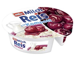 müller Milchreis à la Kompott