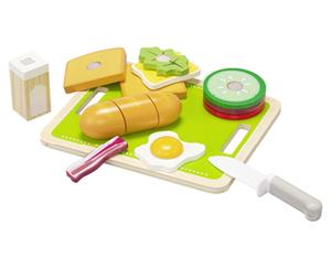 PLAYLAND Lebensmittel-Set aus Holz