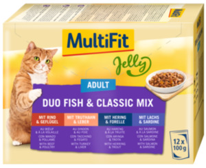 MultiFit Adult Jelly Duo Fish & Classic Mix Multipack 12x100g