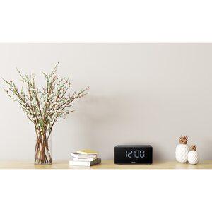 MEDION LIFE® P66970 WLAN-Weckstation mit Amazon Alexa, LED-Display, Bluetooth®, DLNA, Fernfeld-Spracherkennung, Steuerung von kompatiblen SmartHome Geräten, Party-Mode, Qi-Ladefunktion, 2 x 5 W RM