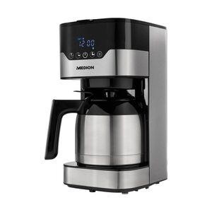 AMBIANO Kaffeemaschine mit Thermokanne MD 18458, Timer-Funktion, Tropf-Stopp, 900 Watt, 1,2 Liter Fassungsvermögen, Aromawahlschalter
