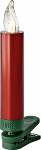 Krinner Lumix Superlight Mini ,  12 LED Kerzen, rot
