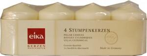 Eika Stumpenkerze Adventsset ,  champagner, Höhe 8 cm, Ø 6 cm, 4er Pack
