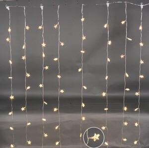 TrendLine LED Lichtervorhang Sterne ,  80 LED, warmweiß