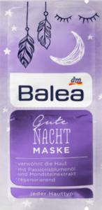 Balea Maske Gute Nacht