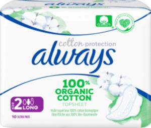 always Ultra-Binde Cotton Protection Long mit Flügel