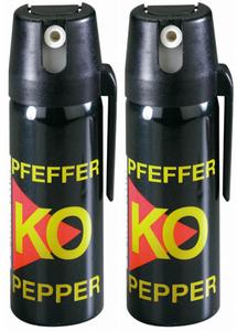 Pfefferspray zur Tierabwehr, 50 ml, 2er Set Ballistol