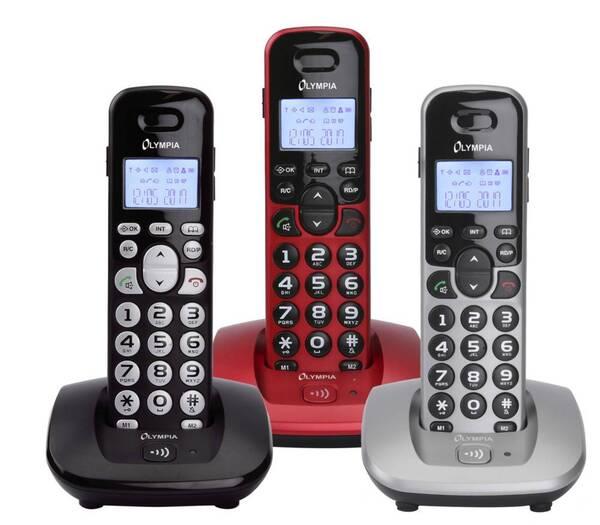 Schnurlose DECT Telefone mit großen Tasten Olympia
