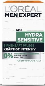 L'Oréal Men Expert Hydra Sensitive Birkensaft Pflege Kräftigt Intensiv 50 ml