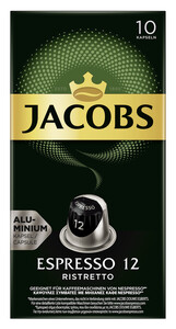 Jacobs Espresso 12 Ristretto Nespresso kompatible Kapseln 10x 5,2 g