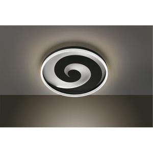 BANKAMP LED Deckenlampe EDDY 50 cm Metall/Glas schwarz/weiß