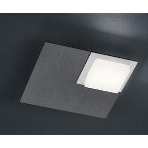 BANKAMP LED Deckenlampe QUADRO ZigBee 19 x 19 cm Metall anthrazit eloxiert