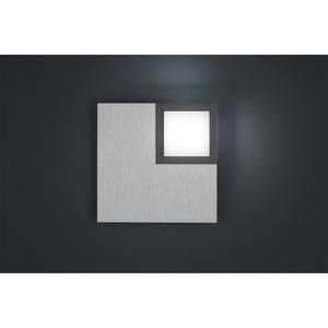 BANKAMP LED Deckenlampe QUADRO ZigBee 19 x 19 cm Metall silberfarbig eloxiert