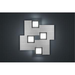 BANKAMP LED Deckenlampe QUADRO ZigBee 45 x 45 cm Metall silberfarbig eloxiert