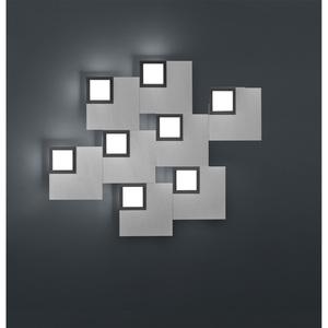BANKAMP LED Deckenlampe QUADRO ZigBee 79 x 69 cm Metall silberfarbig eloxiert