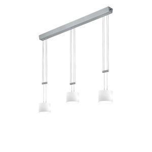BANKAMP LED Pendellampe GRAZIA 3 flg ZigBee 106 cm nickelfarbig/Glas weiß
