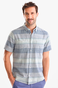 Hemd - Slim Fit - Button-down - gestreift
