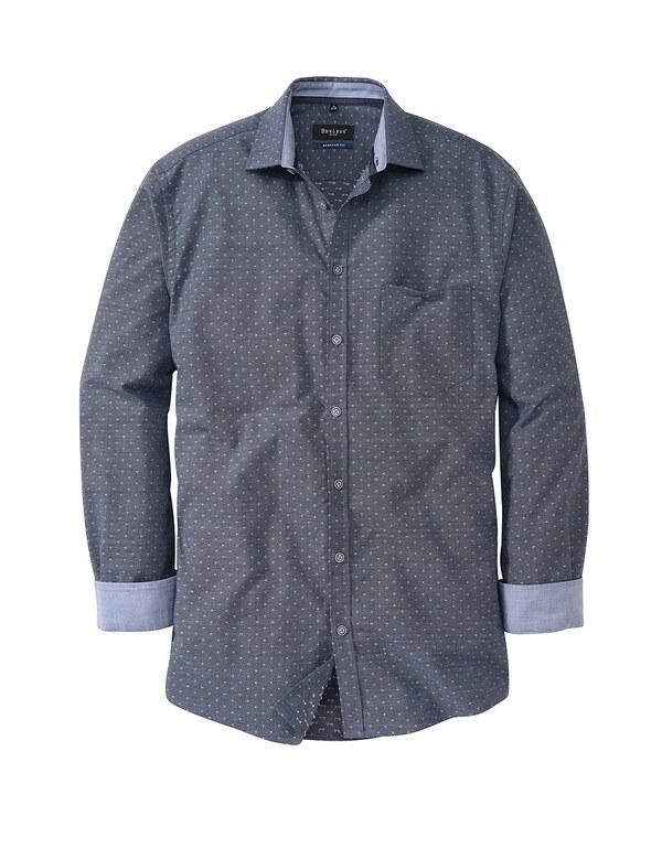 Bexleys man - Freizeithemd, langarm, gemustert