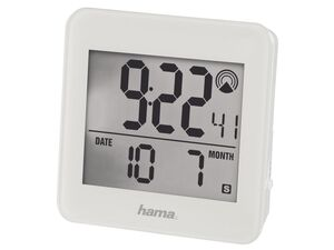 Hama Funkwecker RC 610, Bewegungssensor, Schlummerfunktion, Speedalarm, Weiß