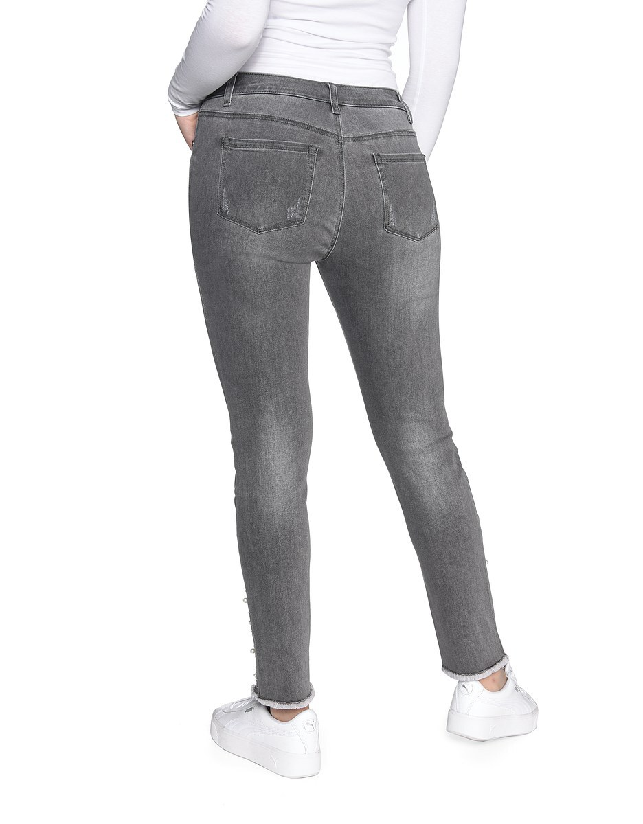 Bild 2 von My Own - Jeans mit Fransensaum, Perlen und Ziernieten