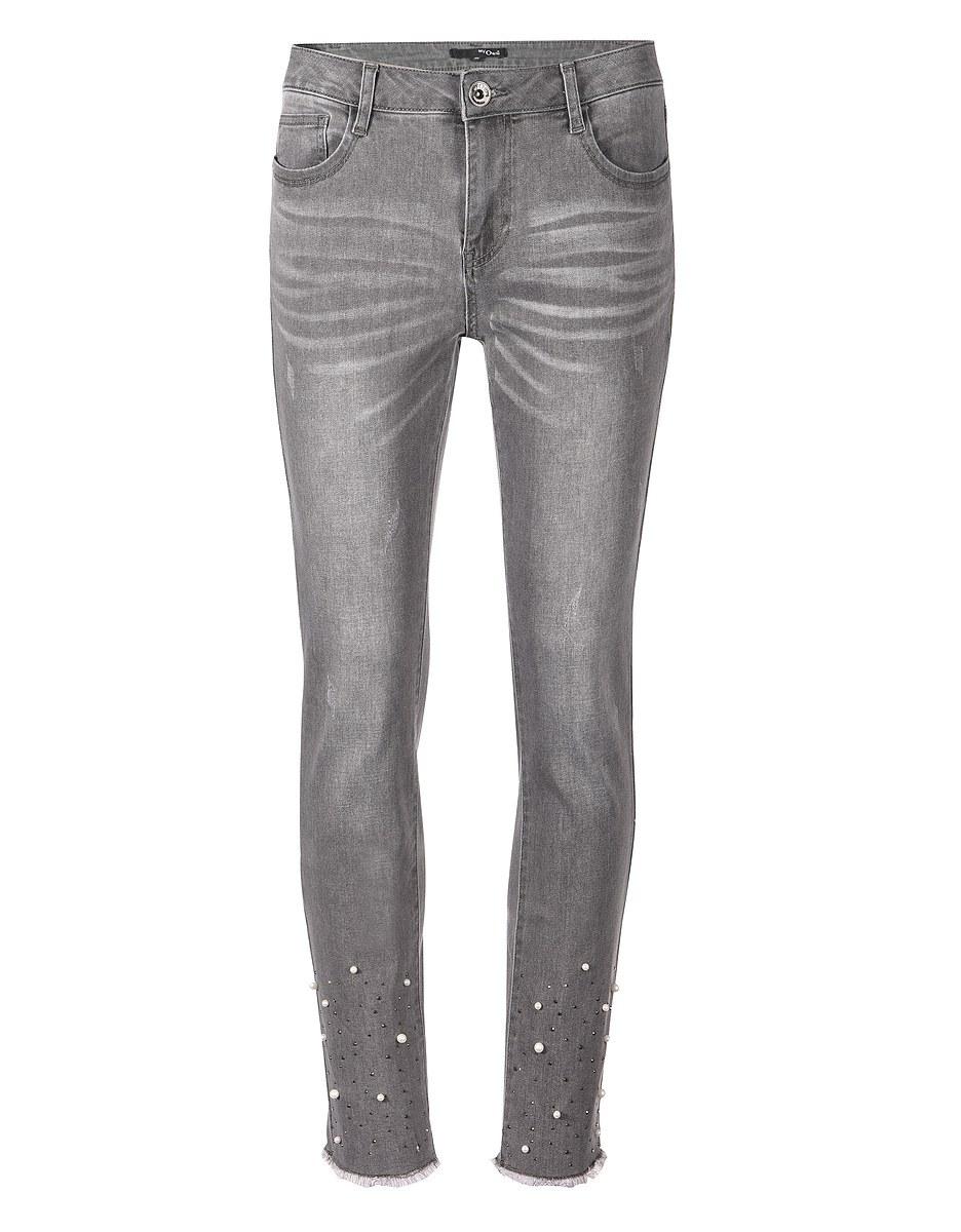 Bild 3 von My Own - Jeans mit Fransensaum, Perlen und Ziernieten