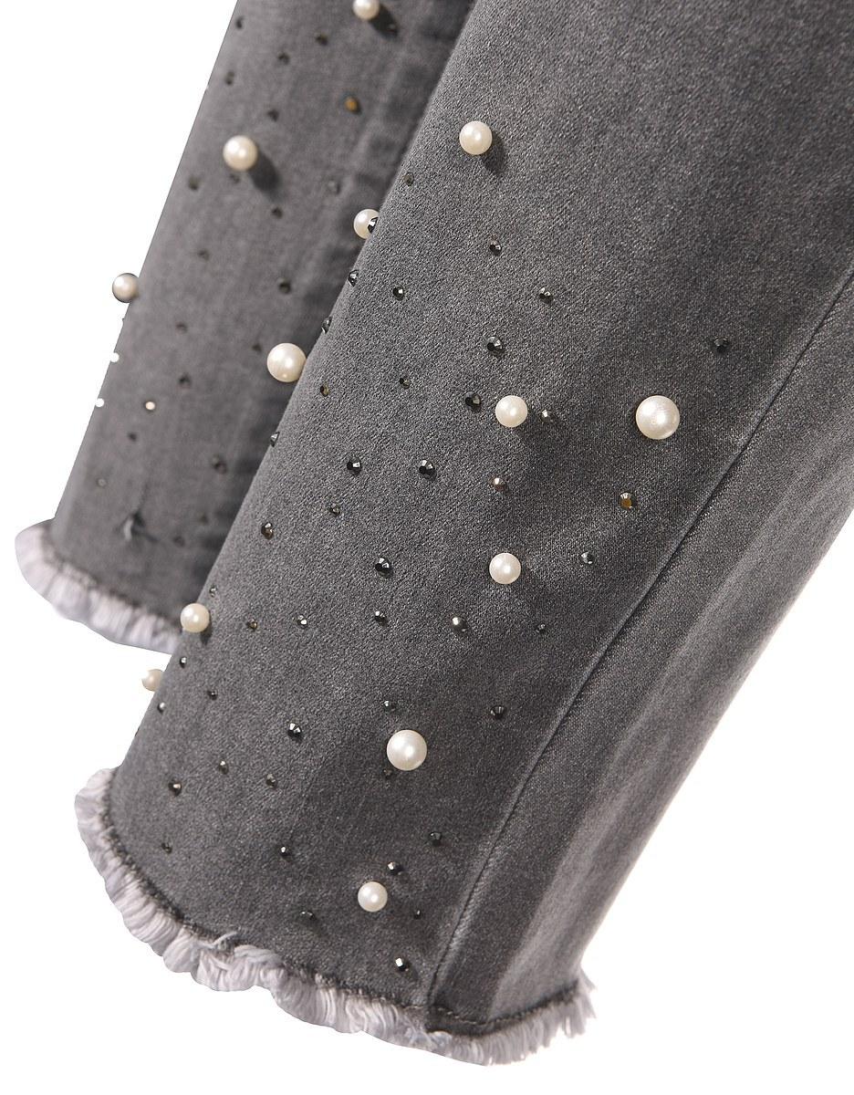 Bild 4 von My Own - Jeans mit Fransensaum, Perlen und Ziernieten