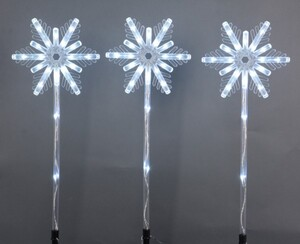 TrendLine LED Schneeflockenstäbe ,  60 LED, weiß