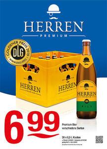 Herren Premium Bier verschiedene SortenDLG Goldner Preis 2019 für Herren Premium Pils