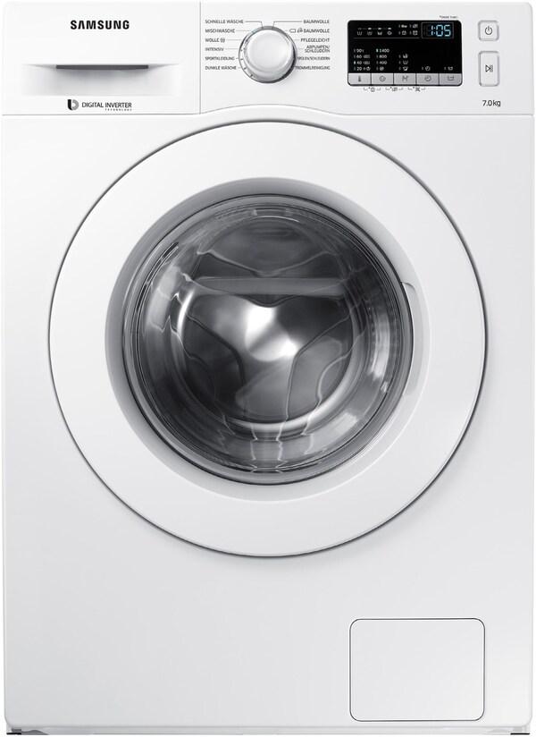 WW70J44A3MW Stand-Waschmaschine-Frontlader weiß / A+++