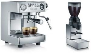 ES 850 Marchesa Siebträgermaschine + CM 850 Kaffeemühle edelstahl