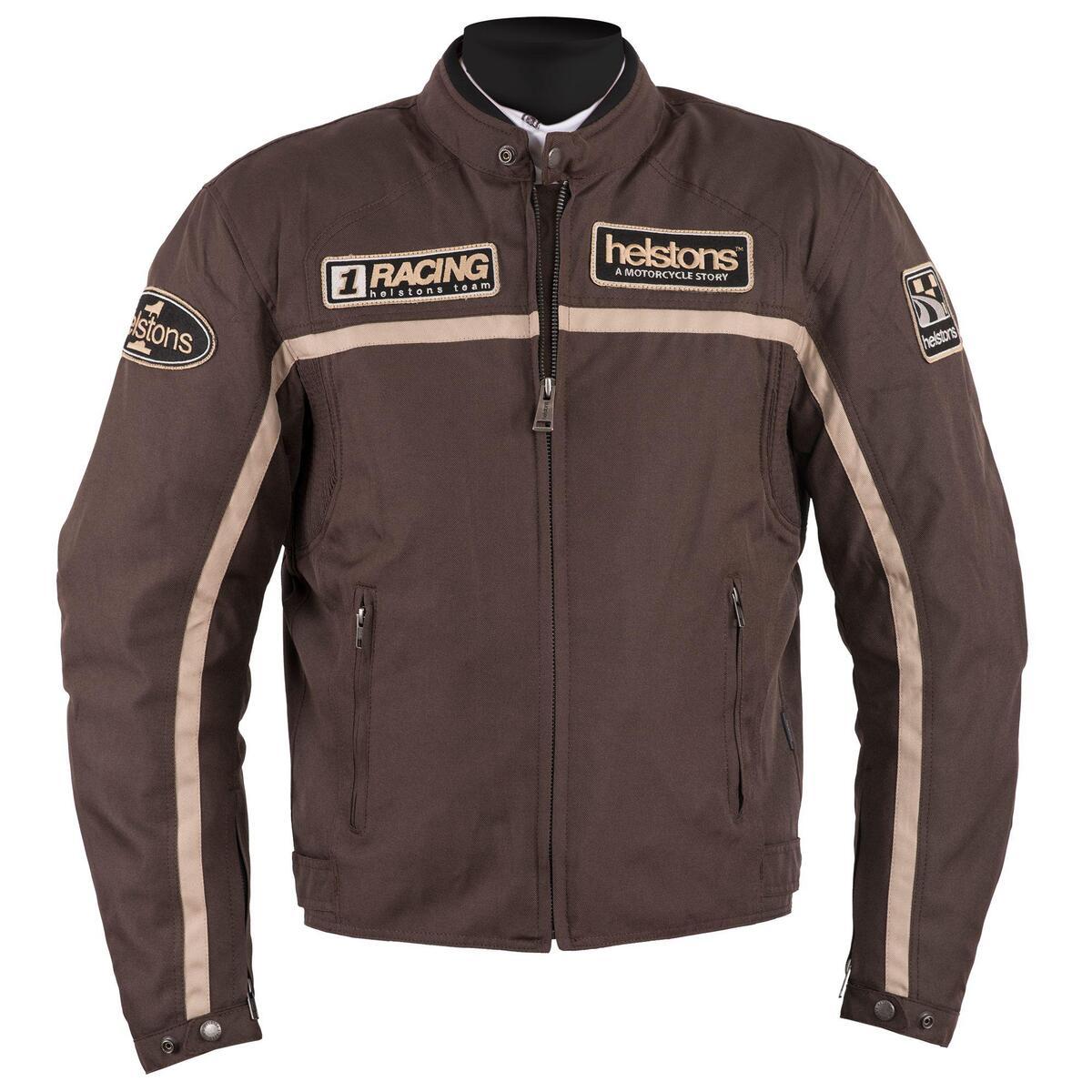 Bild 2 von Helstons Daytona Textiljacke braun Herren Größe L