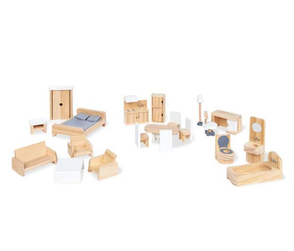 Pinolino-Puppenhausmöbel-Set, 20-teilig