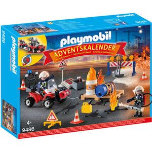 PLAYMOBIL® Adventskalender Feuerwehreinsatz auf der Baustelle 9486