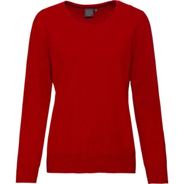 Adagio Damen Seide-Cashmere Pullover, rot, 36, 36