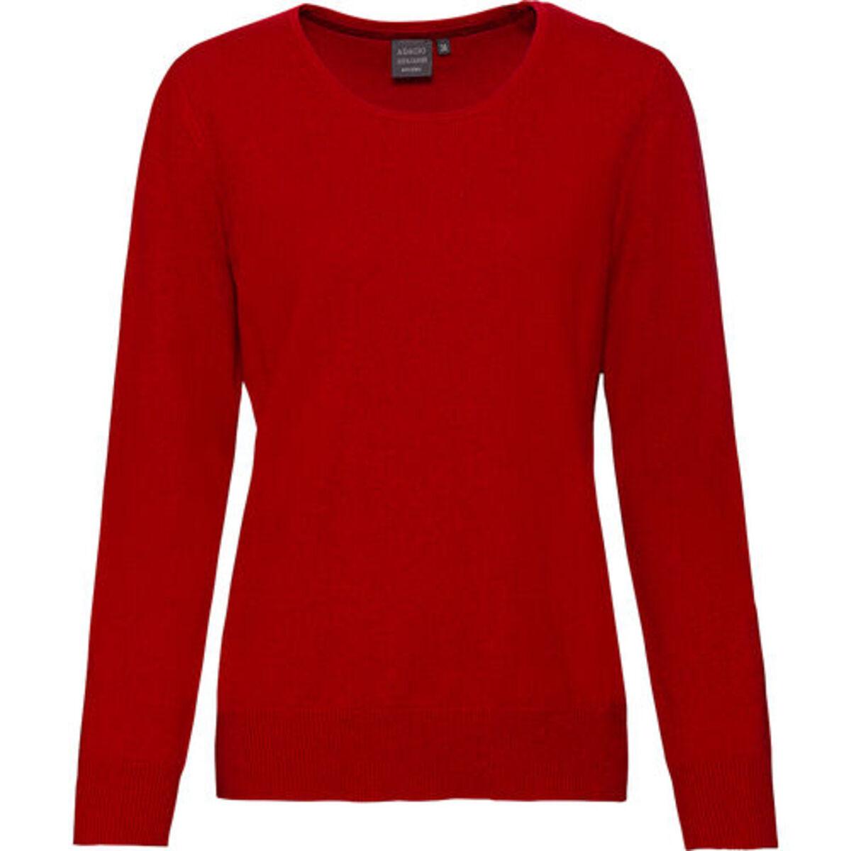 Bild 2 von Adagio Damen Seide-Cashmere Pullover, rot, 36, 36