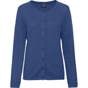 Adagio Damen Seide-Cashmere Cardigan, jeansblau, 46, 46