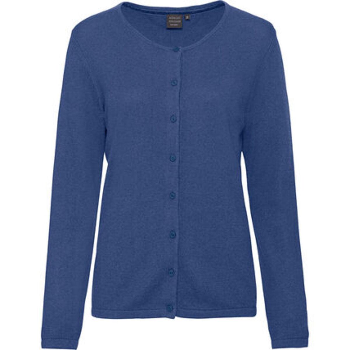 Bild 1 von Adagio Damen Seide-Cashmere Cardigan, jeansblau, 46, 46