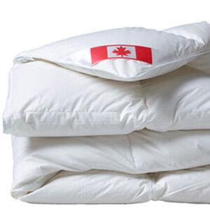 Künsemüller Kassettenbett Canada Warm, 916g, 4x6 Karos, 90% Daunen und 10% Federn, 135x200 cm