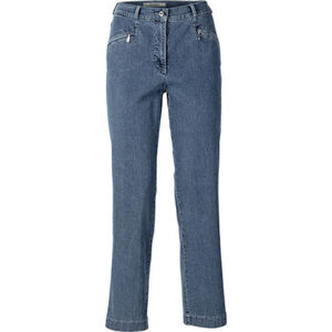 Zerres Damen Jeans Kurzgröße, blaugrau, 19, 19