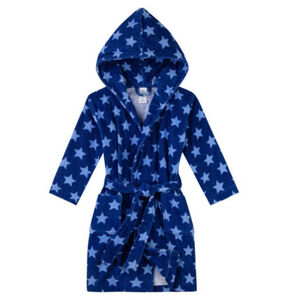 Sanetta Kidswear Jungen Bademantel mit Kapuze, Sterne, blau, 98, 98