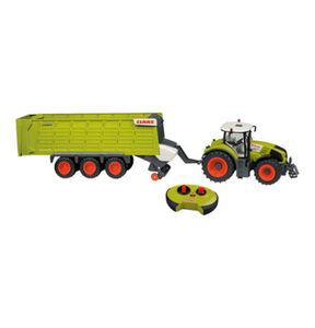 Happy People R/C Traktor CLAAS Axion 870, mit Anhänger Cargos 9600, grün